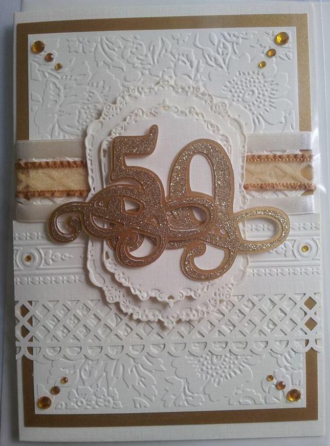 a little bit of heaven golden wedding anniversary card