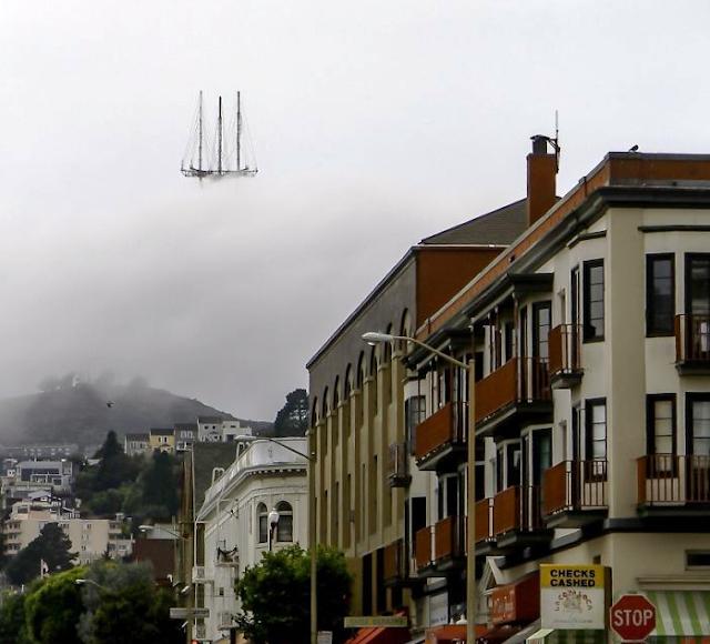 Uçan bir gemiyi andıran Sutro Tower, San Francisco