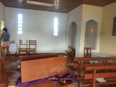 Rapaz provoca danos em Igreja de Rio Branco do Ivaí