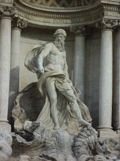 Pietro Bracci's statue, Oceanus, is the  centrepiece of the Trevi Fountain in Rome