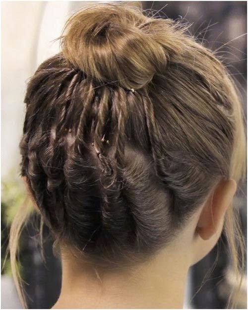 Chic Braided Bun hair tutorial}