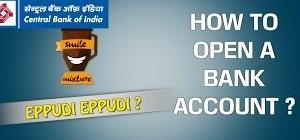 How to Open a Bank Account ?   CBI Bank   Eppudi Eppudi   Smile Mixture