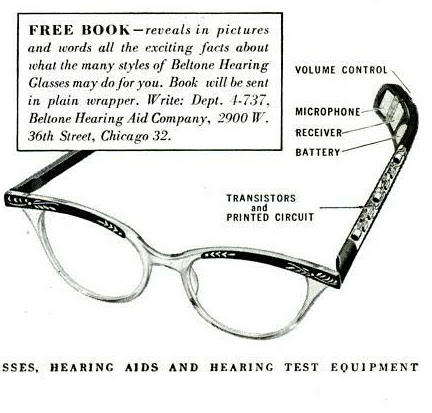 My Pretty Baby Cried She Was a Bird: Beltone Hearing Glasses