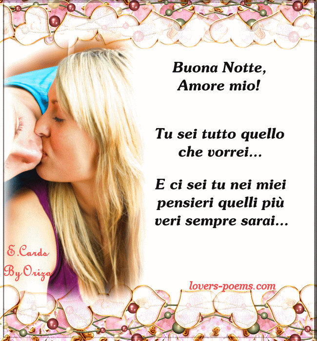 Messaggi Frasi Poesie D Amore Buona Notte Amore