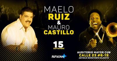 Poster de CONCIERTO DE MAELO RUIZ Y MAURO CASTILLO EN EL AUDITORIO CUN