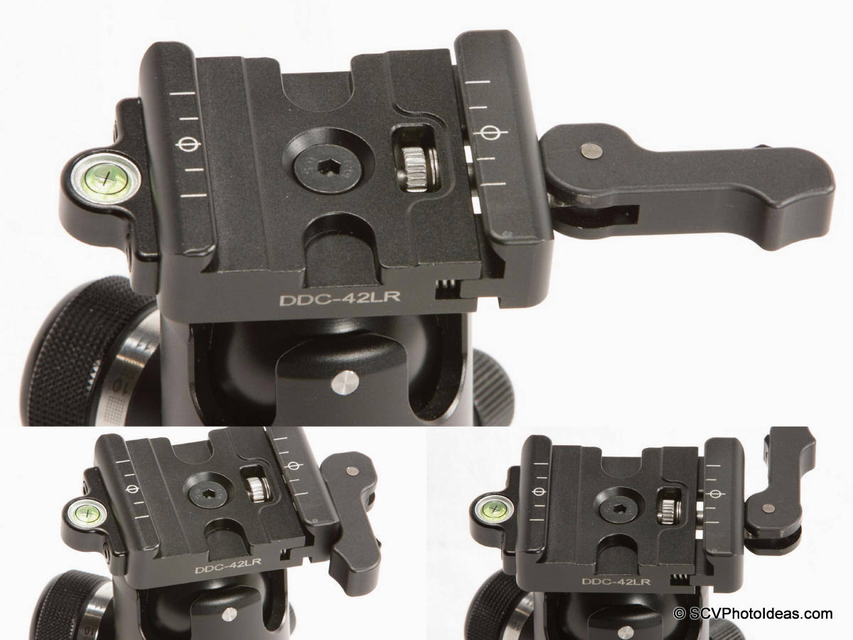 Sunwayfoto DB-36TRLR Lever release positions