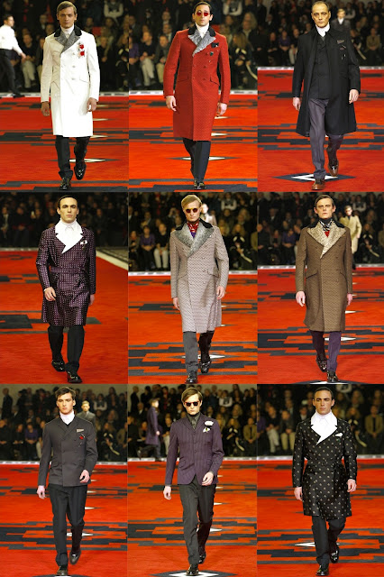 The Hunger Games Fashion - Capitol City Men Costumes inspired by the Prada Fall Winter 2012 collection