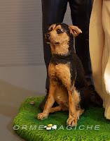 cake topper con animali domestici statuine sposi con cagnolini matrimonio con cane orme magiche