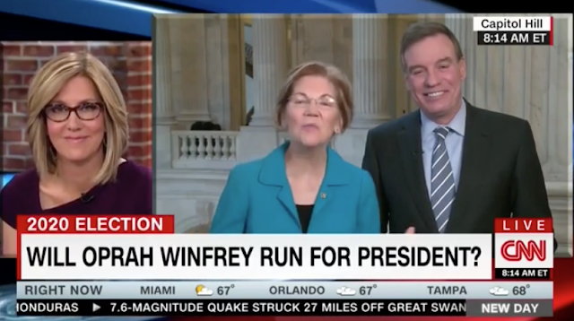 "Elizabeth Warren on Oprah 2020: ""I Don't Know"" If America Wants Another Celebrity Billionaire President"