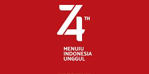 Logo Resmi HUT Kemerdekaan ke-74 RI, Tema 'Menuju Indonesia Unggul'