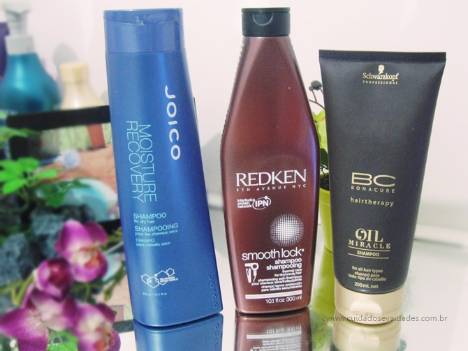 Shampoos Nutritivos: Oi Miracle, Moisture Recovery Joico, Redken Smooth Look