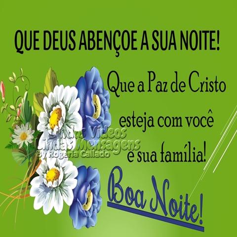 QUE DEUS ABENÇOE A SUA NOITE!  Que a Paz de Cristo  esteja com você  e sua família!  Boa Noite!