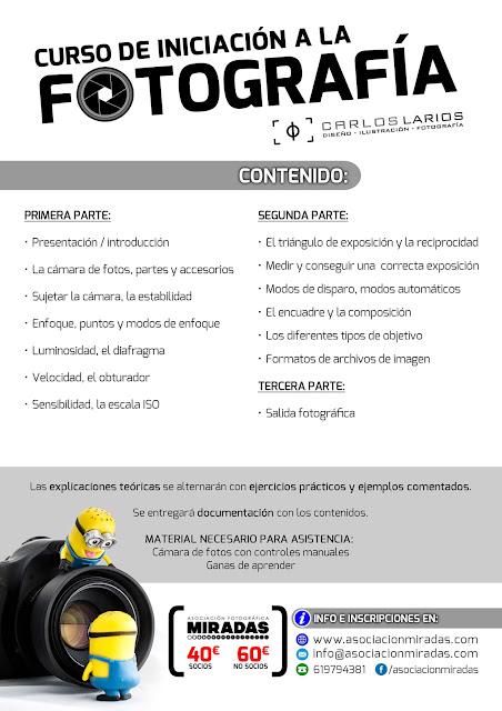 Curso de iniciación a la Fotografía en Ceuta - Contenidos