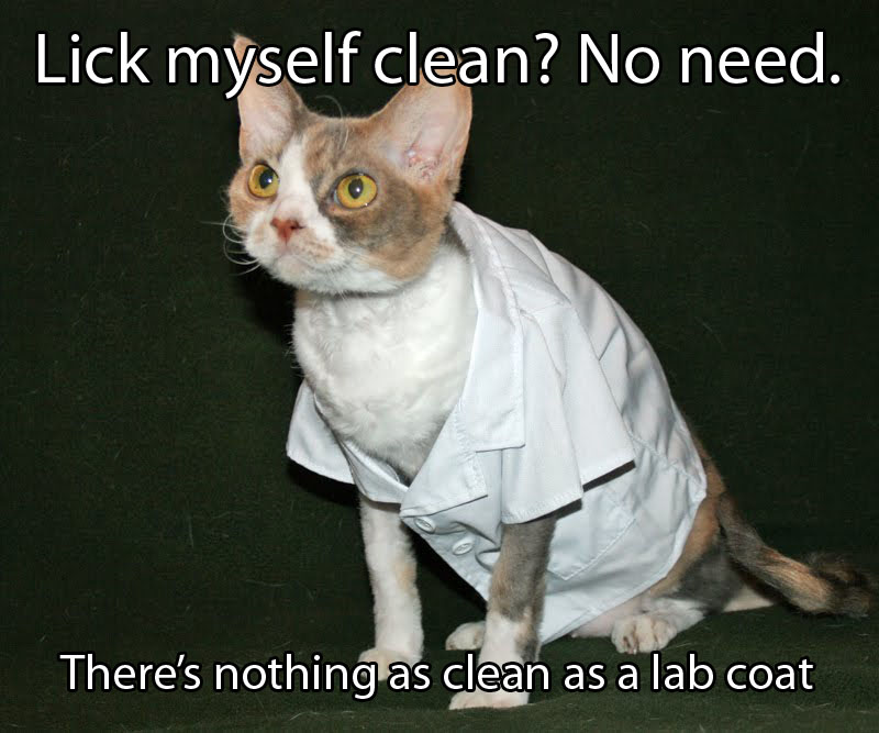 Razzleros Blog Nothing as Clean as a Lab coat