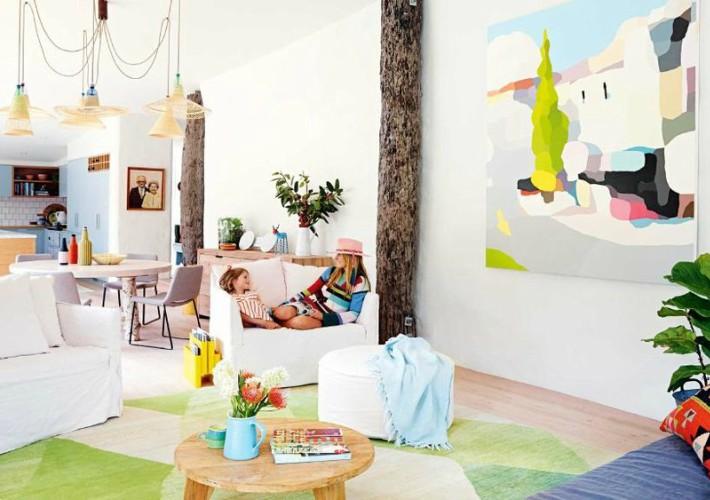 La colorida vivienda de una diseñadora de moda australiana