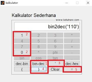 Program Kalkulator Sederhana dengan MATLAB