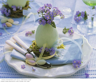 Easter decor, Easter centrepiece, flowers, purple