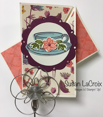 Stampin' Up! Tea Room Suite, Fun Fold, www.stampingwithsusan.com