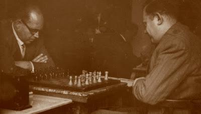 Partida de ajedrez Ribera-García Orús, Campeonato de España individual Zaragoza-1957