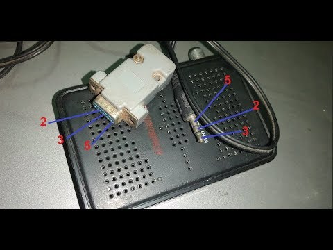طريقة صنع كابل الترقية لاجهزة mini كابل jack to rs232