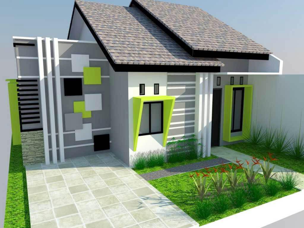 65 Gambar Desain Rumah Minimalis Cat Hijau Sisi Rumah Minimalis