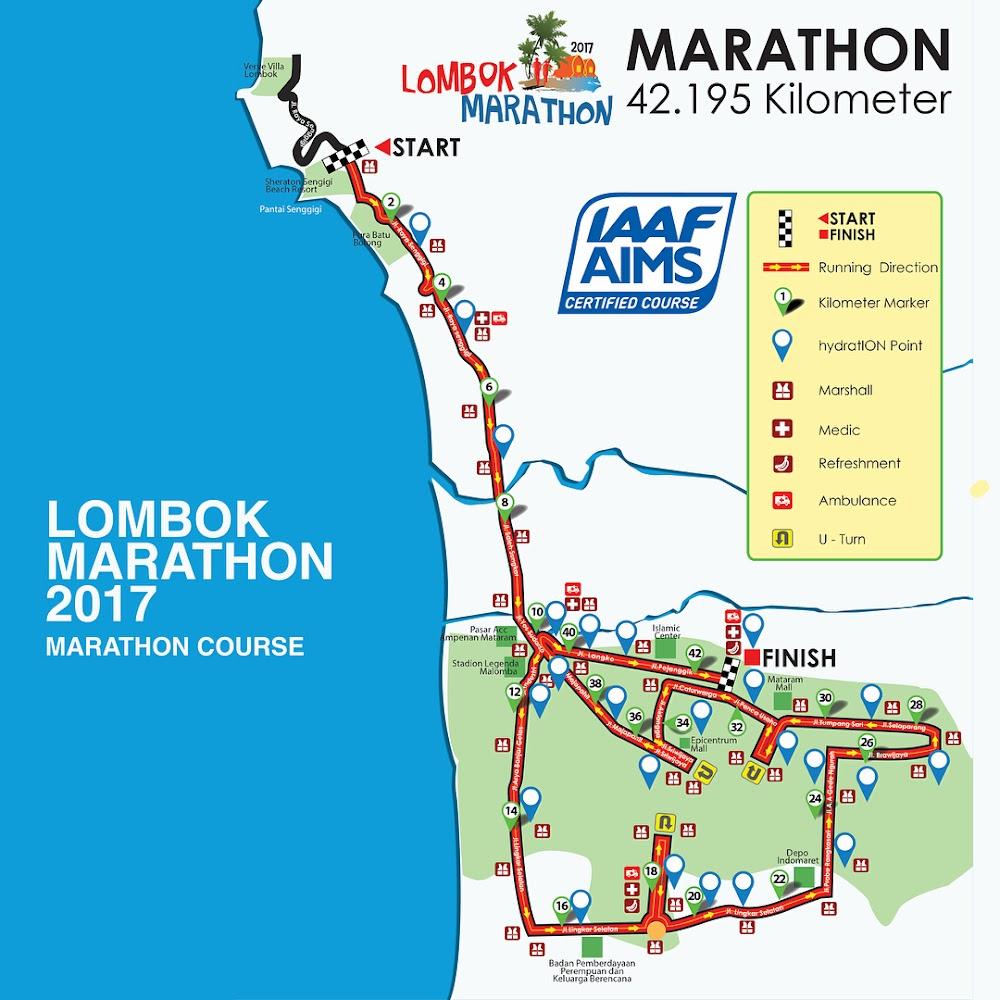 Lombok Marathon Route • 2017