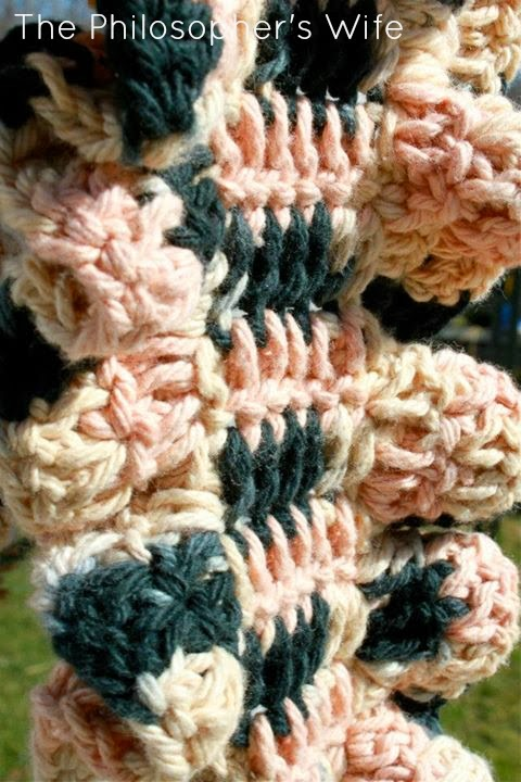 The Philosophers Wife Girlie And Graceful Crochet Ruffle Scarf Pattern