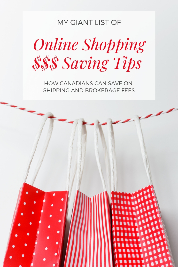 online money saving tips for Canadian. Tips for online shopping.