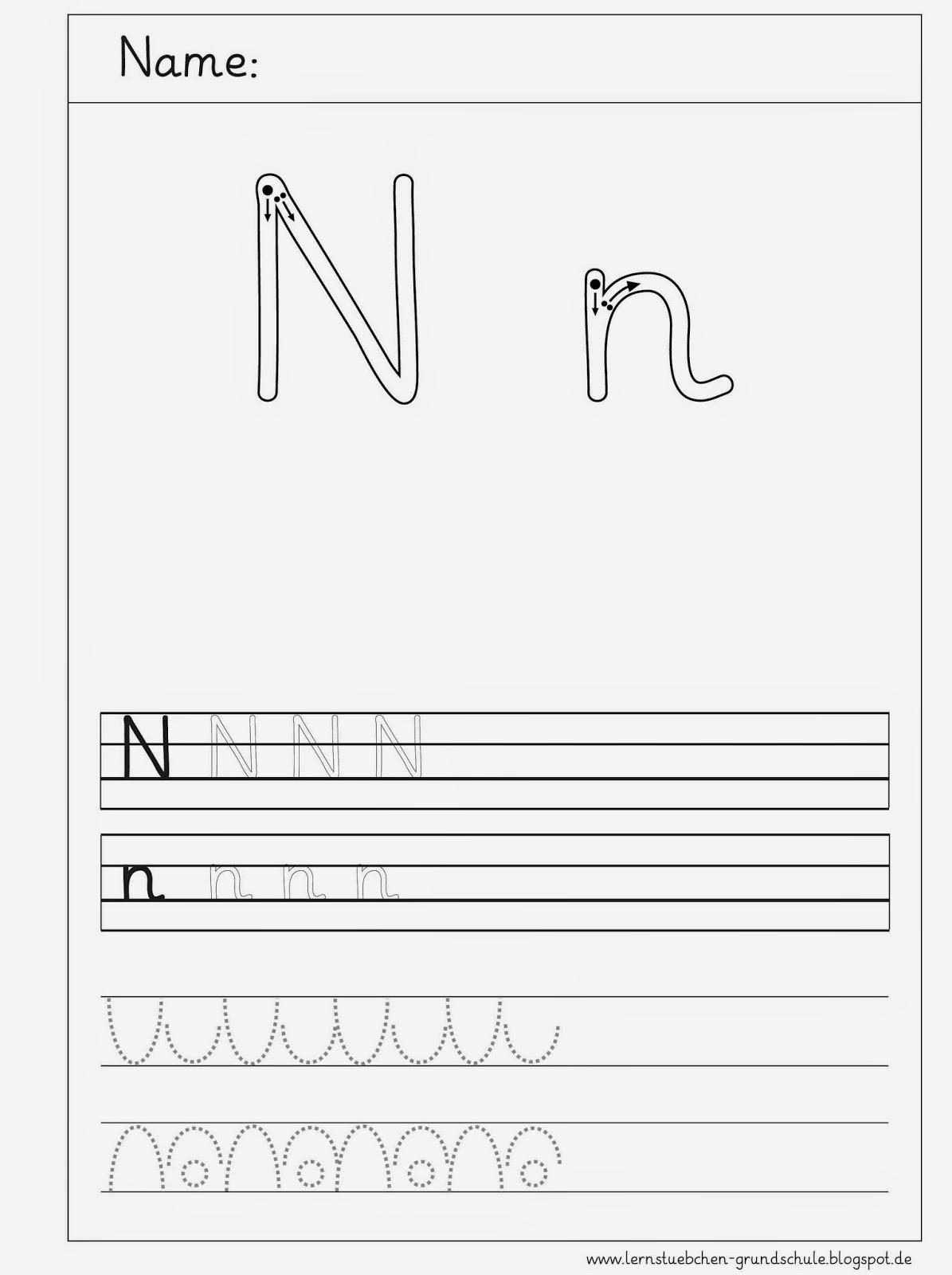 lernst bchen schreibbl tter zum n n. Black Bedroom Furniture Sets. Home Design Ideas