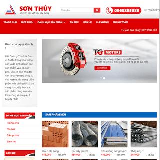 template blogspot bán hàng vật liệu xây dựng