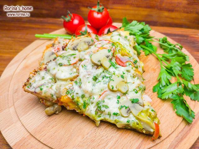 Пицца на сковороде: рецепт за 10 минут