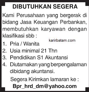 Lowongan Kerja BPR HRD DM Batam Indonesia
