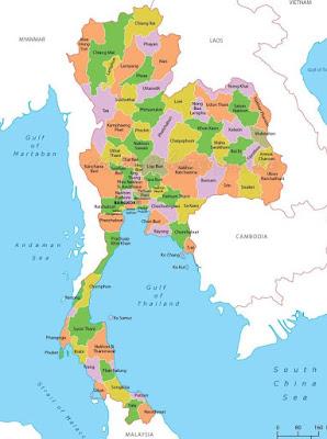 Peta Thailand Lengkap