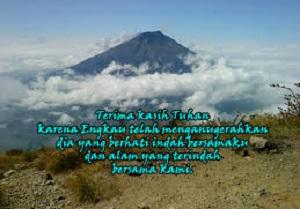 ucapan pendaki gunung sejati