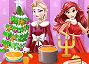 Elsa y Ariel Christmas Cooking juego