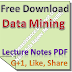 Lecture Notes on Data Mining PDF Download