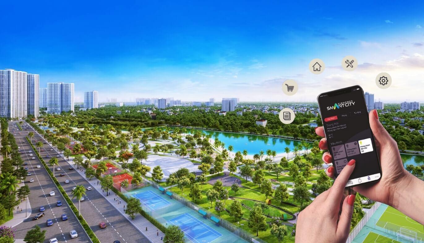 Phối cảnh đô thị thông minh Vinhomes Smart City
