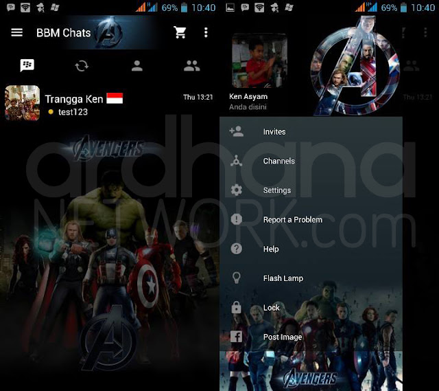 Preview BBM Avengers - BBM Android V2.10.0.35