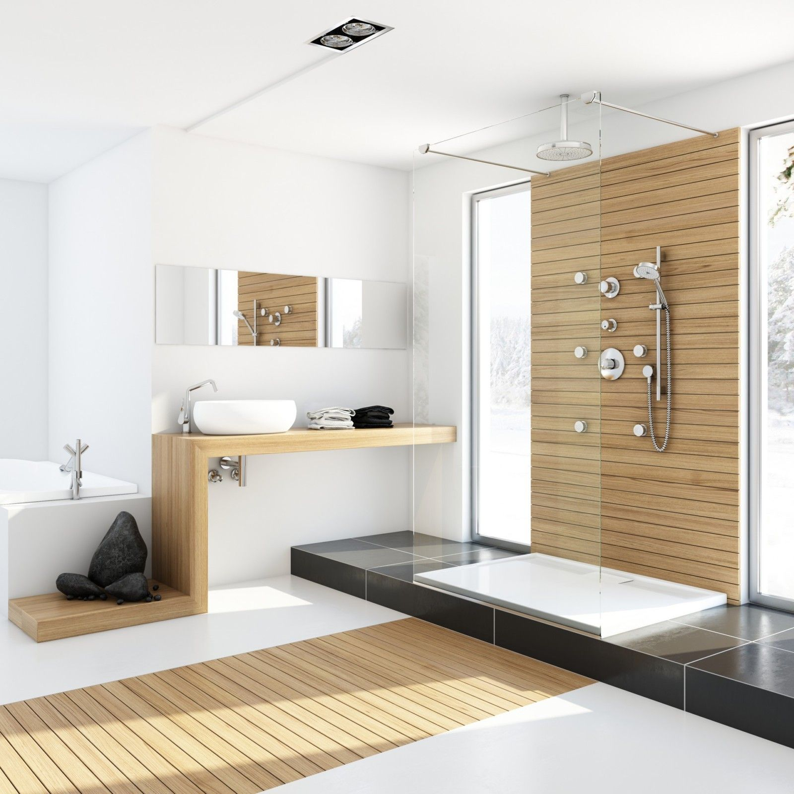 Basement Bathroom Tile Design Ideas