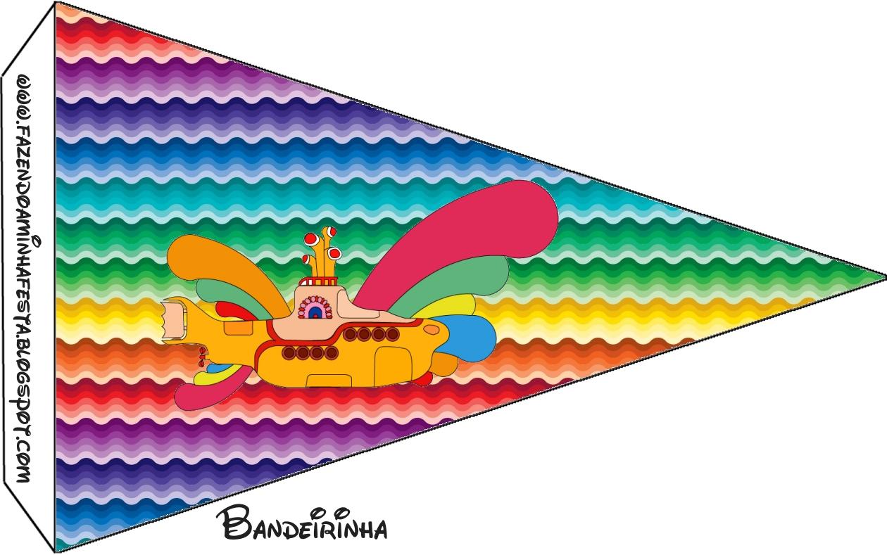 Beatles Yellow Submarine Free Party Printables