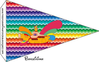 Beatles Yellow Submarine Food Toppers or Flags.