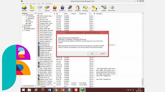 Cara Mengatasi Resume File IDM
