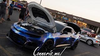 Blue Lightning Custom Chevrolet Camaro ZL1 Front Angle