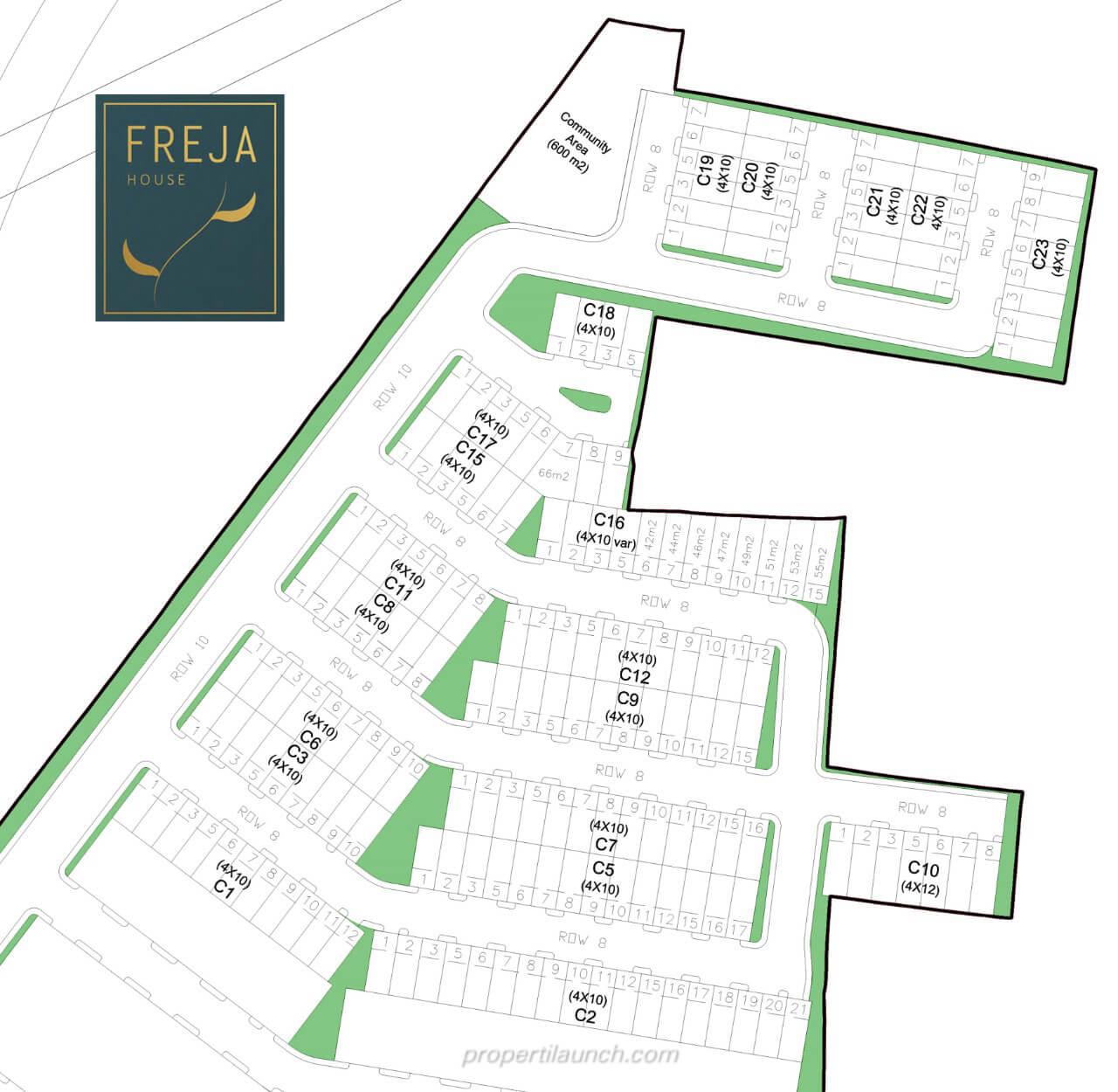 Siteplan Cluster Freja House BSD
