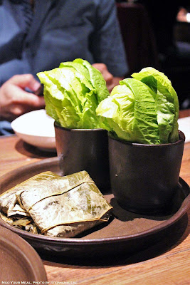 Leaf Wraps and Lotus Leaf Wrapped Sticky Rice at Oiji in New York City