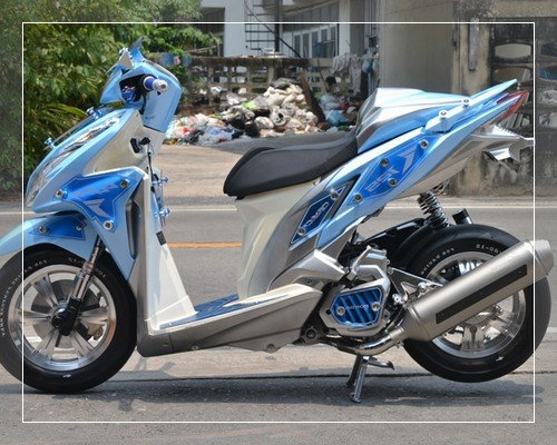 50 Gambar Modifikasi Honda Vario Gaya Road Race
