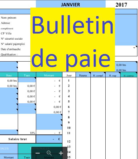 Modèle De Fiche De Paie Excel Exemples De Modèles Cours