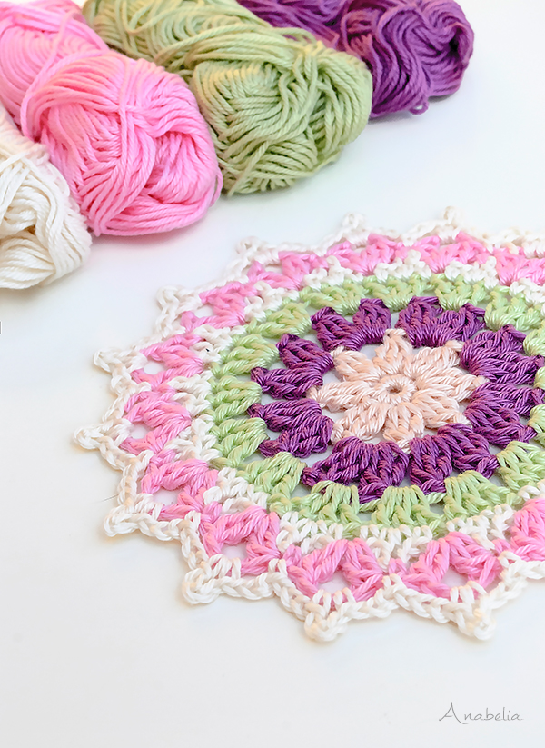 Mini crochet Mandala by Anabelia Craft Design