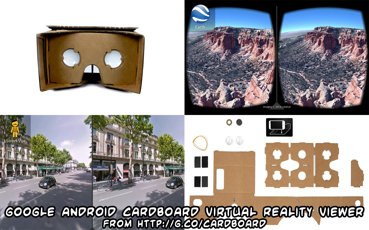 Google Cardboard Virtual Reality Viewer smartphone goggles