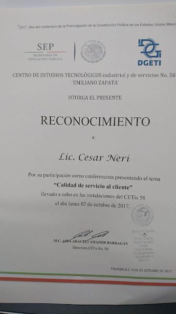CETis 58 Tijuana BC Oct 2017